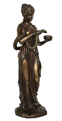 Hygieia Statue Ancient Greek Goddess of health Asclepius Cold Cast Bronze Resin