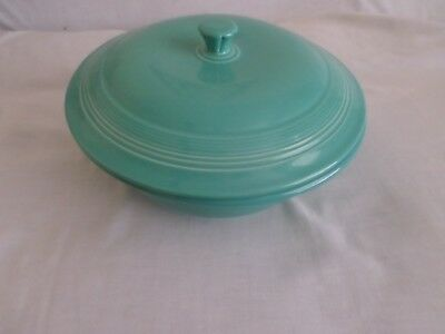 Fiestaware HLC Turquoise Large Serving Bowl With Lid