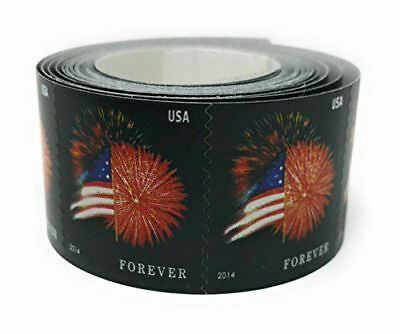 100 Forever Stamps Star-Spangled Banner Fireworks Roll US Flag USPS Coil New