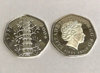 Kew Gardens Proof 50p Copy Excellent & Uncirculated - Coin Collectors Xmas Gift
