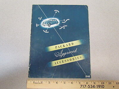 Vintage 1946 Packard Approved Accessories car catalog / sales brochure