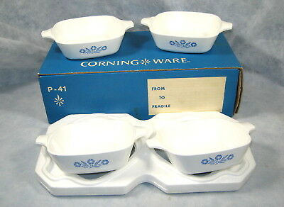 NEW Set of (4) CORNING WARE P-41 Petite Pans New with Box USA