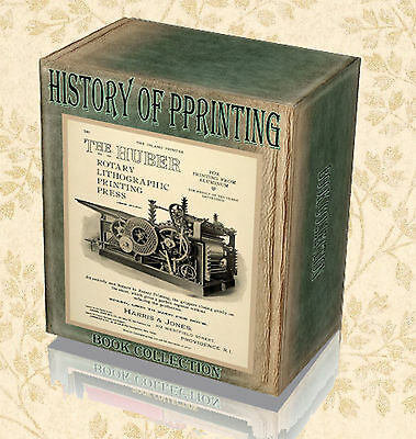 Printing History 210 Rare Books on DVD - Type Foundry Wood Block Print Press A7