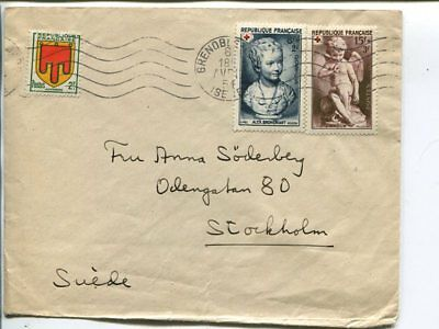 France cover to Sweden 1951