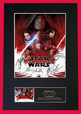 Star Wars -The Last Jedi Mini Poster-SIGNED BY 6 CAST MEMBERS -BEST SELLER ⭐⭐⭐⭐⭐