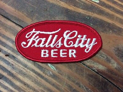 "Vtg NOS 50s 60s FALLS CITY 3.25""x1.5"" Dealer Jacket Clothing Patch Sign SEE ALL"