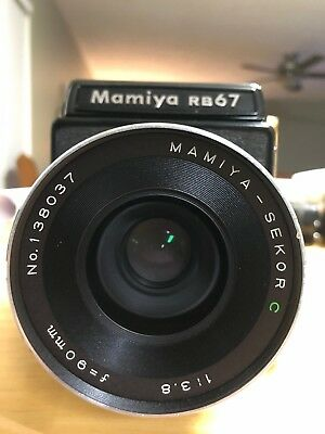 Mamiya RB67 With 90mm f/3.8 Lens, Pro S 120 Back and Waist Level Viewfinder