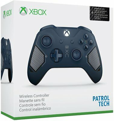 Microsoft Xbox One Wireless Controller Patrol Tech Special Edition Blue - GST2.1