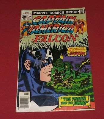 Captain America #207 FN 5.5 SIGNED STAN LEE AND JACK KIRBY! THE FALCON! L@@K!
