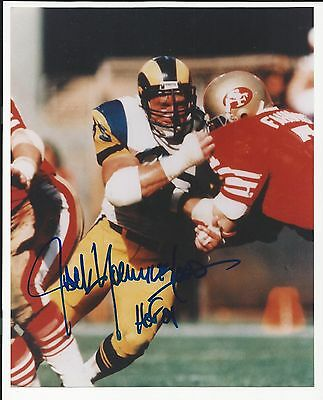 Jack Youngblood HOF Los Angeles Rams Signed Auto 8x10 Football Photo  Autograph 9100f235a