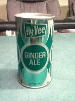 Hy-Vee Ginger Ale. (1976). Straight steel, pull top. No bar code or ml listed.