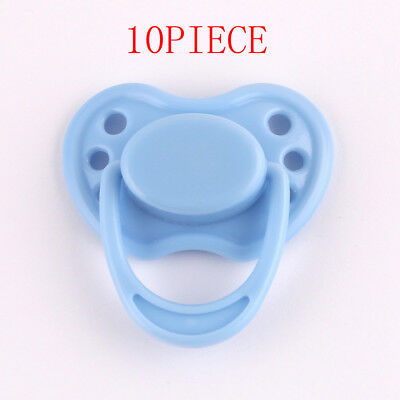 10 Piece Blue Dummy Magnetic Pacifier Reborn Baby Internal Magnet Dolls Supplies