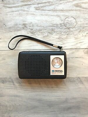 Vintage ROSS Solid State Hand Held Radio! In working condition!