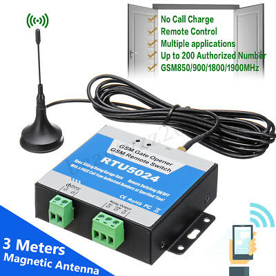 🔥 RTU5024 GSM Auto Door Gate Opener Wireless Remote Control Relay Free Call SMS