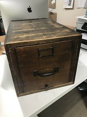 Wooden Filing Cabinet X 1 Drawer