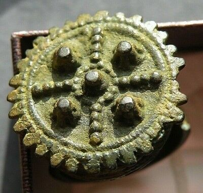 Medieval Ring Crusader Cross 800 years Old + Jewelry Bronze Ancient Byzantine