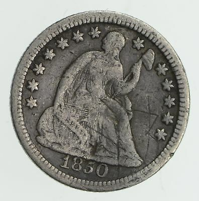 5c ***1/2 Dime** - 1850 Seated Liberty Half Dime - Early American Type Coin *878