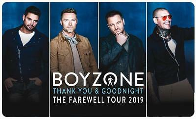 2 Boyzone Meet And Greet + Second Row Concert Tickets For Leeds Arena 01/02/19