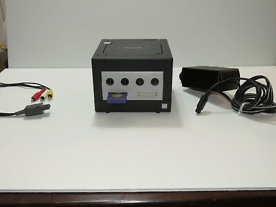 Nintendo GameCube Console System Black with memory card and OEM cords