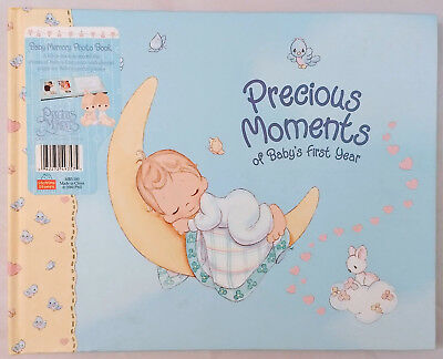 """Vintage Precious Moments """"BABY'S FIRST YEAR"""" Memory Photo Book - NEW"""