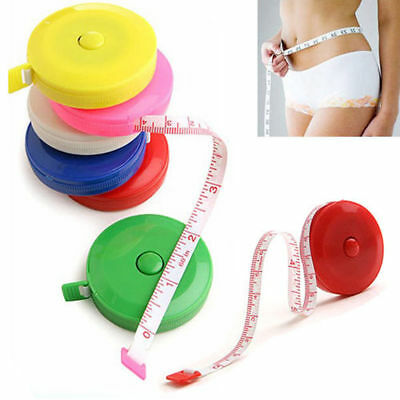 1Pc Retractable Body Measuring Ruler Sewing Cloth Tailor Tape Measure Soft 60""