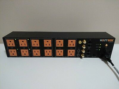 WattBox WB-600-SVCE-12 Power Conditioner Safe Votage 12 Sockets 3 Filter Groups