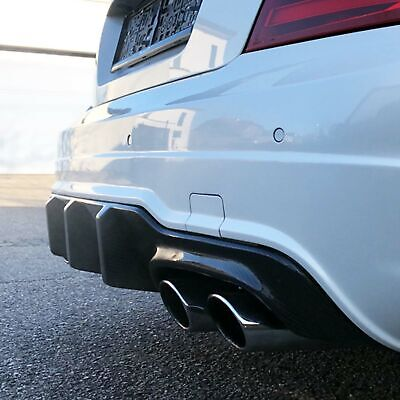 Real Carbon Tail Set Diffuser Rear Diffuser Mercedes Benz W204 C63 AMG Facelift