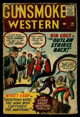 Atlas/Marvel Comics GUNSMOKE WESTERN #56 Kid Colt G/VG 3.0