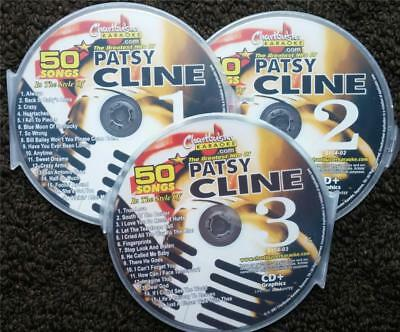 Patsy Cline 3 Cdg Discs Chartbuster Hits Classic Country Karaoke 50 Songs 5104