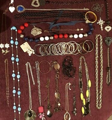 Mixed Job Lot Of Vintage, Retro, Modern Jewellery. Metal Types Unknown. #1