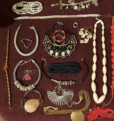 Mixed Job Lot Of Vintage, Retro, Modern Jewellery. Metal Types Unknown. #3