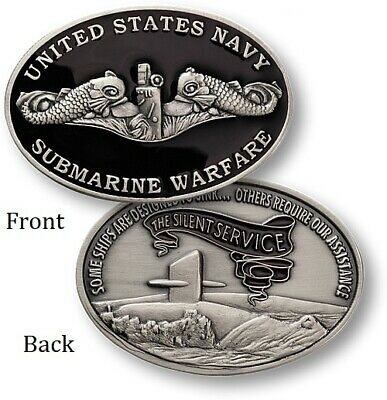 ~ US Navy ~ Submarine Warfare ~ Challenge Coin ~ Enlisted ~ Bubblehead ~ Dolphin