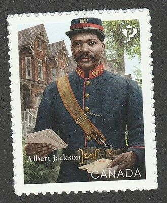 Canada Black History Month Albert Jackson 'P' single (1 stamp) MNH 2019