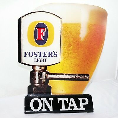 Old Fosters Light Bar Top Perspex Display Sign
