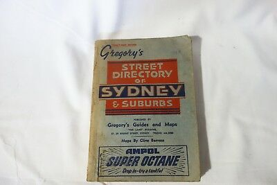 Vintage Gregory's Sydney Street Directory 21st Edition -Ampol (Year 1947 ?)