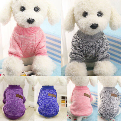 Dog Pet Cat Warm Jumper Sweater Clothes Knitwear Costume Coat Apparel Puppy Gift