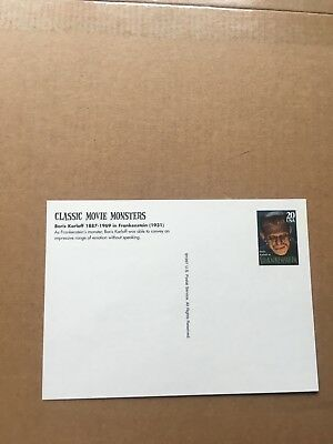 "Postkarte 1997 Classic Movie Monsters ""Frankenstein"" NEU"