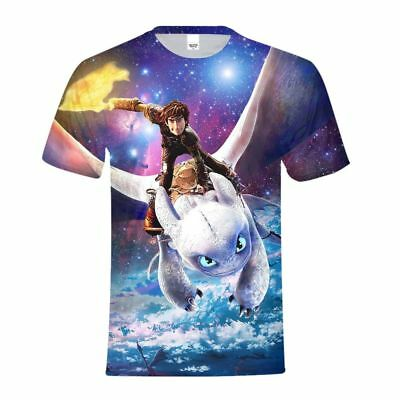 How to Train Your Dragon Kids T-Shirt Short Sleeve Crew Neck Casual Tee Shirts