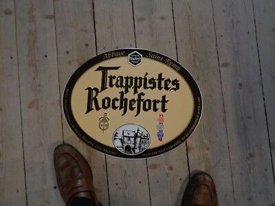 Trappist Rochefort reclame beer sign metal new abbaye Saint Remy