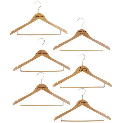 Rustic Engraved Wooden Clothes Hanger Rack Wedding Accessories Gift Supplier