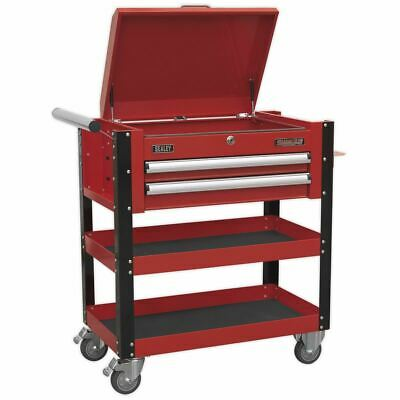 Sealey AP760M Heavy-Duty Mobile Tool & Parts Trolley 2 Drawers - Red