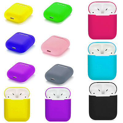 For Apple iPhone AirPod Shockproof Silicone Earphone Protective Skin Case Cover