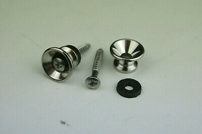 Voodoo Vibe Chrome STRAP BUTTONS w/Screws for Guitar/Bass Strat Tele e.t.c...