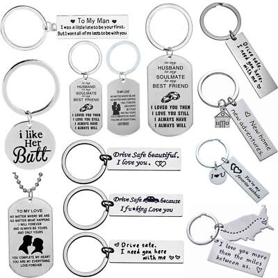 Key Ring Couple Lover Gift Husband Wife Keyring Boyfriend Girl Friend Valentines
