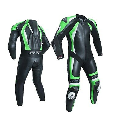 RST 1840 CPXC 2 1 One Piece Leather Race Motorcycle Motorbike Suit Green NEW