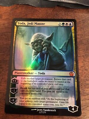 Yoda Jedi Master Lord Magic The Gathering MTG card Planeswalker Star Wars Sith