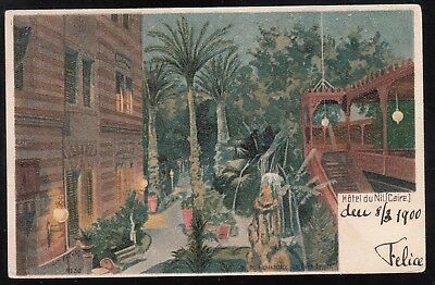 Egypt - Austria 1900 Used Postcard From Hotel Du Nil To Kremsmunster