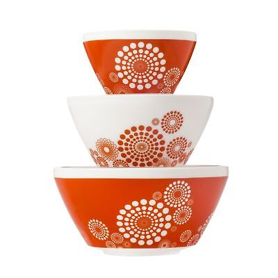 Pyrex Vintage Charm Tickled Pink 3 Piece Mixing Bowl Set, inspired by Pyrex New