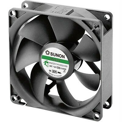 Sunon HA80251V4-0000-999 Brushless 12V DC Axial Fan, 80 x 80 x 25mm