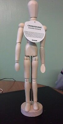 "Wooden Artist's Mannequin Moveable Limbs (32cm/12.5"") BNWT (FREEPOST)"